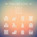 Construction thin line icon set Stock Images