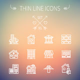 Construction thin line icon set Royalty Free Stock Photos