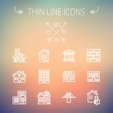 Construction thin line icon set Royalty Free Stock Photos
