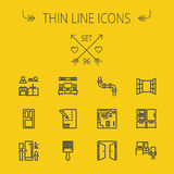 Construction thin line icon set Stock Image