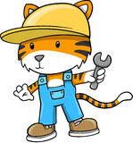 Construction Tiger Vector Illustration Royalty Free Stock Photography
