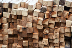 Construction timber logs Stock Images