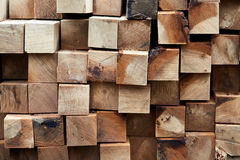 Construction timber logs Royalty Free Stock Photography