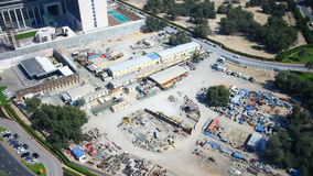 Construction time lapse from dubai center Stock Photos