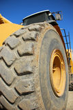 Construction Tire. A large tire from a construction vehicle Royalty Free Stock Photo