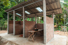 Construction of toilets. In thailand Stock Photos