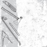Construction tool background Stock Image