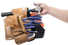 Construction tool belt Stock Photos