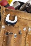 Construction tool belt. Photos of construction tool belt Royalty Free Stock Image
