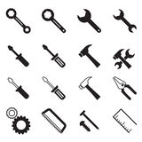 Construction tool collection Vector illustration Symbol Royalty Free Stock Image