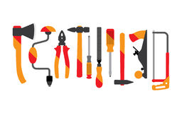 Construction tool collection Royalty Free Stock Image