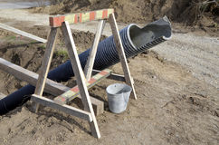 Construction tool  in a construction site Royalty Free Stock Photos