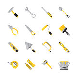 Construction tool flat icon set. Royalty Free Stock Photography