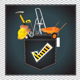 Construction tool happy smile illustration Stock Image