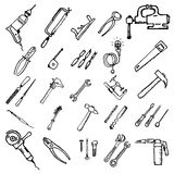 Construction tool icon collection - vector illustration stock illustration