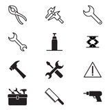 Construction tool icon collection Vector illustration Symbol 2. Construction tool icon collection Vector illustration Graphic design royalty free illustration