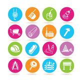 Construction tool icons Royalty Free Stock Photos