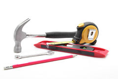 Construction tool set Royalty Free Stock Image