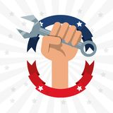 Construction tool to celebrate labor day. Vector illustration Royalty Free Stock Photo
