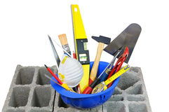 Construction tools. Everything the tools of the perfect handyman Royalty Free Stock Image