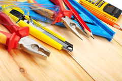 Construction tools. Royalty Free Stock Image
