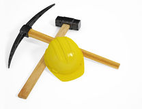 Construction tools. Isolated on white, with clipping paths Royalty Free Stock Photo