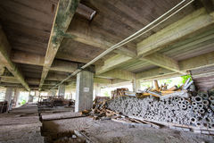 Construction tools in abandoned buildings Royalty Free Stock Images