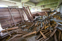 Construction tools in abandoned buildings Royalty Free Stock Image