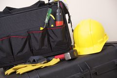 Construction Tools Bag Royalty Free Stock Photos