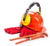Construction tools close up. Stock Photo