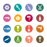 Construction Tools Color Icons Stock Images