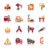 Construction Tools Colorful Icons Stock Photo