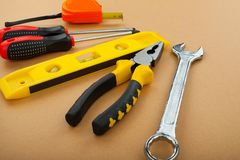 Construction tools stock photography
