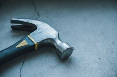 Construction tools on a dark background royalty free stock photography
