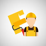 Construction tools design. Illustration eps10 graphic Royalty Free Stock Image