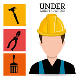Construction and tools. Graphic design icons, vector illustration eps10 Stock Photo