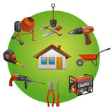 Construction tools icon Royalty Free Stock Photo