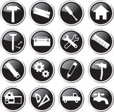 Construction tools icon set Royalty Free Stock Photos