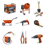Construction Tools Icons Royalty Free Stock Photos