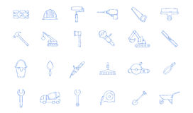 Construction tools icons set Royalty Free Stock Photos