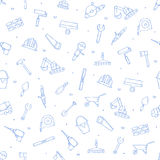 Construction tools icons set pattern Royalty Free Stock Photos