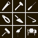 Construction tools icons. Set of icons on a theme of construction tools Stock Photo
