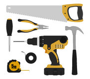 Construction tools instruments set Royalty Free Stock Photography