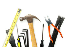 Construction tools isolated on white Stock Photography