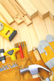 Construction tools and materials Stock Photo