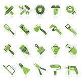 Construction tools object icons Stock Photo