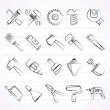 Construction tools object icons Royalty Free Stock Photo
