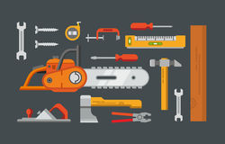 Construction Tools Objects Royalty Free Stock Photo