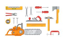 Construction Tools Objects Royalty Free Stock Photos