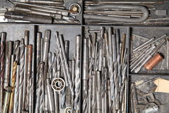 Construction tools repair many different drills royalty free stock photo
